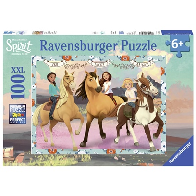 Ravensburger Pussel 100 Bitar XXL Spirit - Lucky and Friends, 107483
