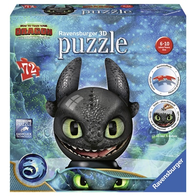 Ravensburger 3D Pussel 72 Bitar How To Train Your Dragon, 111459
