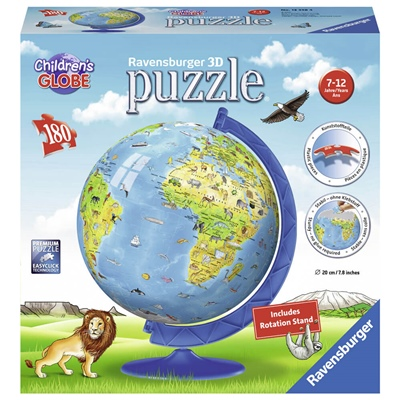 Ravensburger 3D Pussel 180 Bitar Childrens World Globe, 123384