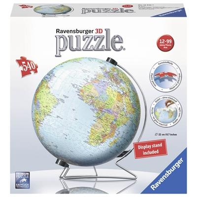 Ravensburger 3D Pussel 540 Bitar World Globe, 124367