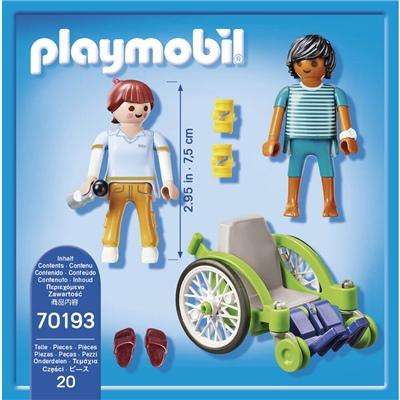 Playmobil Patient i Rullstol, 70193