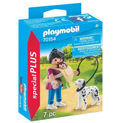 Playmobil Mamma med Baby och Hund, 70154