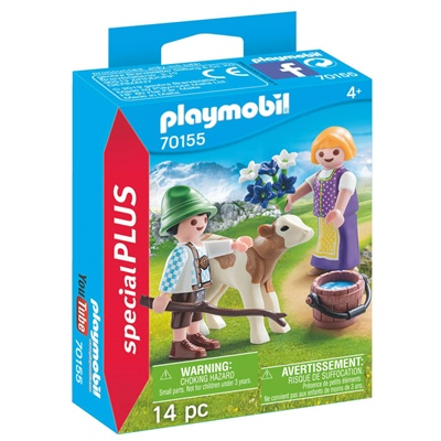 Playmobil Barn med Kalv, 70155P