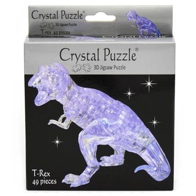 Crystal Puzzle 3D Pussel 49 Bitar T-Rex Transparent, 28475