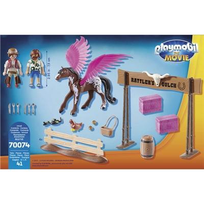 Playmobil: THE MOVIE Marla och Del med Den Flygande Hästen, 70074