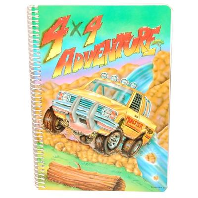 4x4 Adventure Linjerad Skrivbok A5, 7320431550015