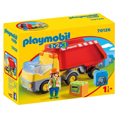 Playmobil 1-2-3 Lastbil med Tippflak, 70126P