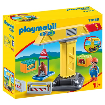 Playmobil 1-2-3 Byggkran, 70165P