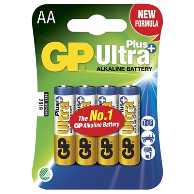 GP Ultra Plus Alkaline AA Batterier 4-Pack, GP15AUP-2NL4