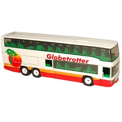 Siku Buss Dubbeldäckare Globetrotter 1:55, 3814SKG