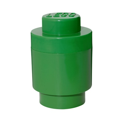 LEGO Förvaringslåda Rund 1 Grön, 8140301718