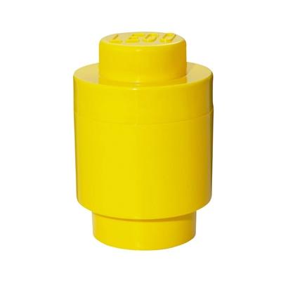 LEGO Förvaringslåda Rund 1 Gul, 8140300157