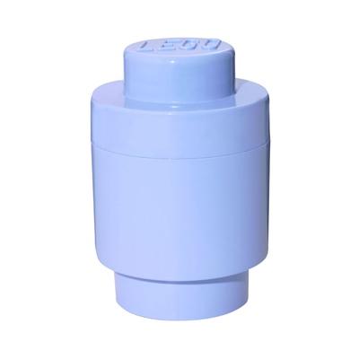 LEGO Förvaringslåda Rund 1 Ljusblå, 8140300158