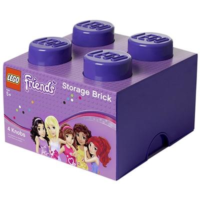 LEGO Förvaringslåda 4 Friends Lila, 39031746