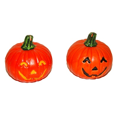 Halloween Pumpa Stearinljus 14 cm 1 st, 13912