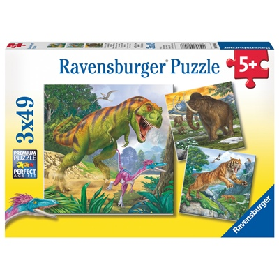 Ravensburger Pussel 3x49 Bitar Primeval Ruler, 093588