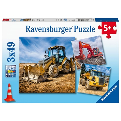 Ravensburger Pussel 3x49 Bitar Digger at Work, 050321
