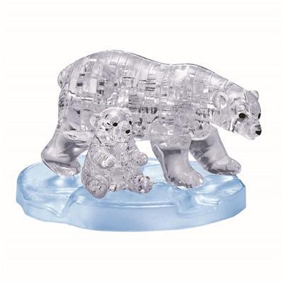 Crystal Puzzle 3D Pussel 40 Bitar Polar Bear Family, 28456