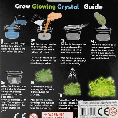 Glow in-The-Dark Growing Crystal Kit, 70221R