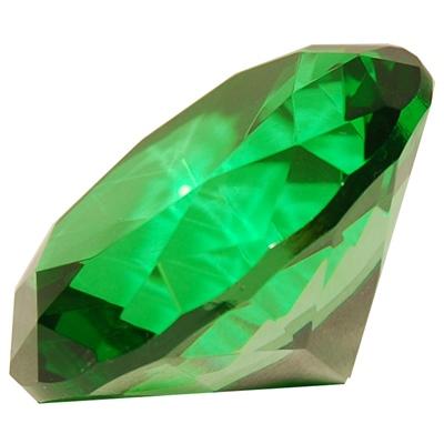 Diamant i Glas Grön 8 cm, 50958G