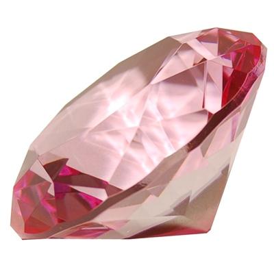 Diamant i Glas Rosa 8 cm, 50958R