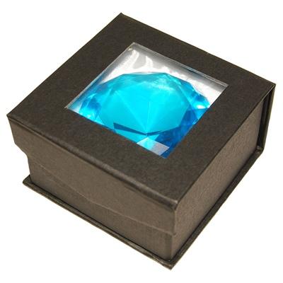 Diamant i Glas Blå 8 cm, 50958B