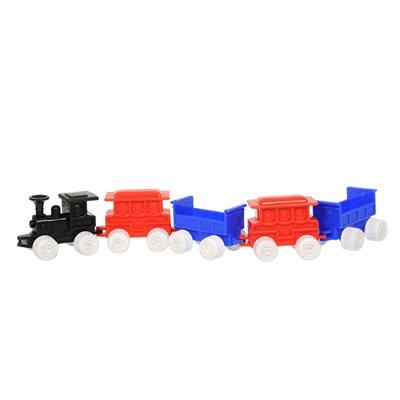 Plasto Tågset med Lok och 4 Vagnar, 1670000BOX