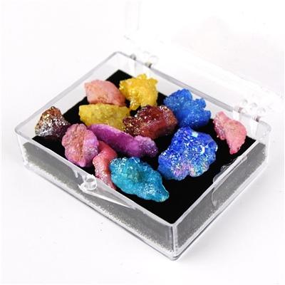 Regnbågs Geode Kristaller i Liten Box, 50947