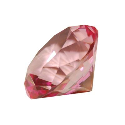 Diamant i Glas Rosa 5 cm, 50953R