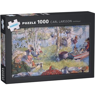 Kärnan Pussel 1000 Bitar Carl Larsson Kräftfångst, 580011