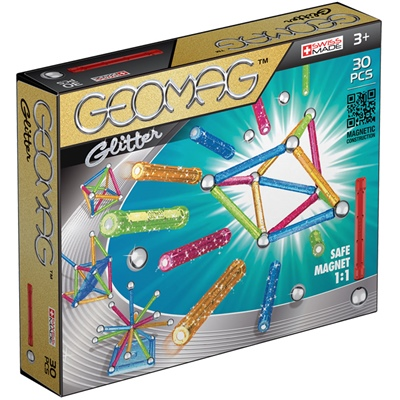 Geomag Glitter 30 Delar, 531G