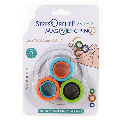 Stress Relief Magnetic Rings 3-Pack, 50475