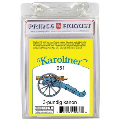 Prince August Karoliner Kanon 3-Punds, 951