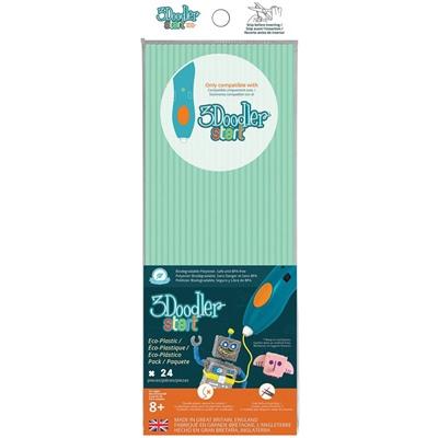 3Doodler Start Plastic Packs Aqua Mint 24-Pack, 3DS-ECO02-MINT-24