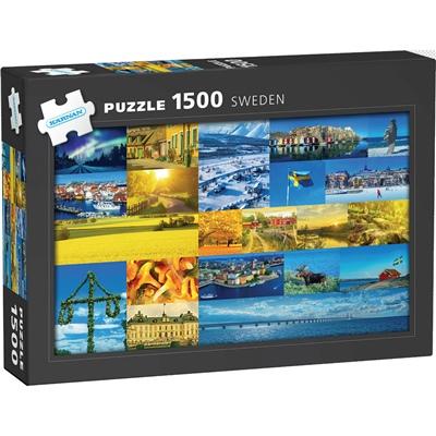 Kärnan Pussel 1500 Bitar Sverige, 590020