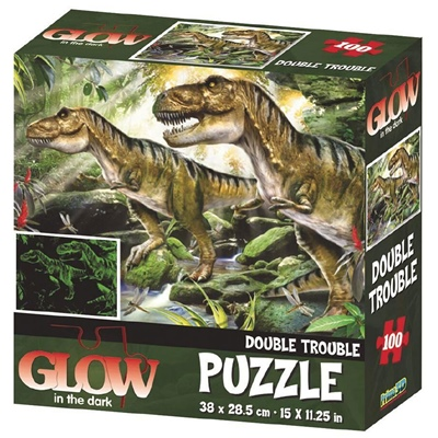 Glow in The Dark Pussel 100 Bitar Dinosaurier, 28841