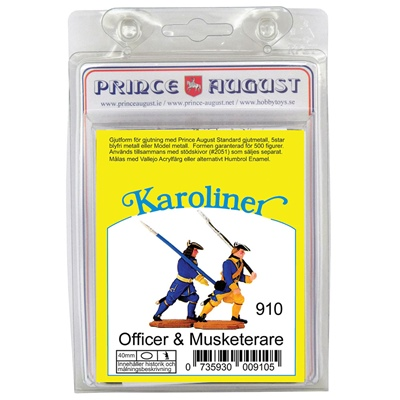 Prince August Karoliner Officer & Musketerare, 910