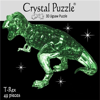 Crystal Puzzle 3D Pussel 49 Bitar T-Rex Grön, 28182