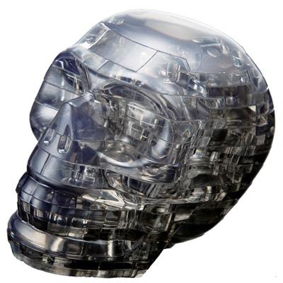 Crystal Puzzle 3D Pussel 48 Bitar Skull Svart, 28144