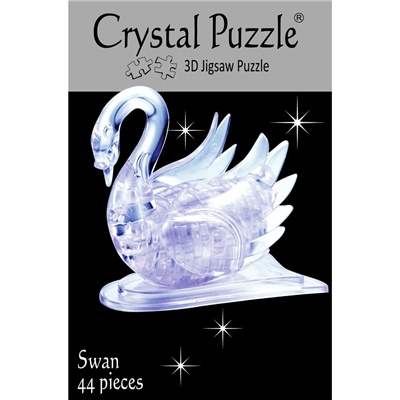 Crystal Puzzle 3D Pussel 44 Bitar Swan, 28150
