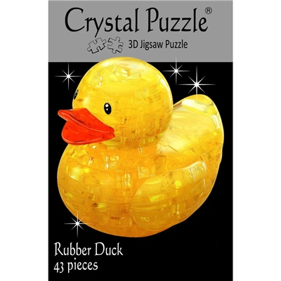 Crystal Puzzle 3D Pussel 43 Bitar Yellow Rubber Duck, 28186
