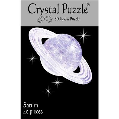 Crystal Puzzle 3D Pussel 40 Bitar Planeten Saturnus, 28159
