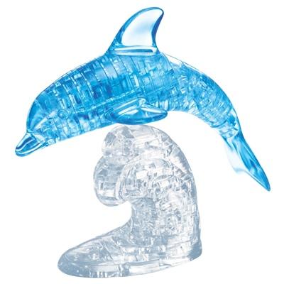 Crystal Puzzle 3D Pussel 95 Bitar Blå Delfin, 28168