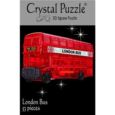 Crystal Puzzle 3D Pussel 53 Bitar London Buss, 28181