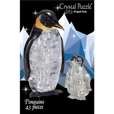 Crystal Puzzle 3D Pussel 43 Bitar Pingvin med Unge, 28195