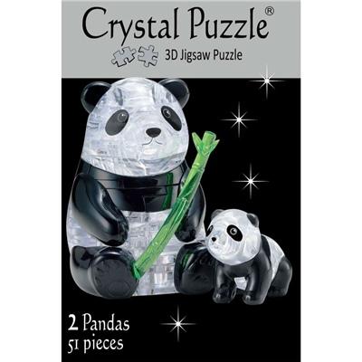 Crystal Puzzle 3D Pussel 51 Bitar Panda med Unge, 28494