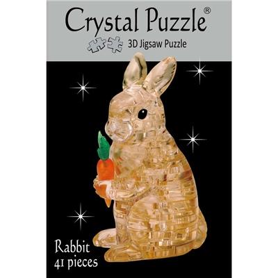 Crystal Puzzle 3D Pussel 41 Bitar Brun Kanin med Morot, 28497
