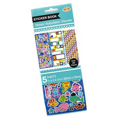 Stickers Block Sealife 285 Stickers, 51037