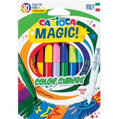 Carioca Color Change Magic Fiberpennor 10-Pack, 950012