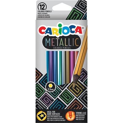 Carioca Metallic Träfärgpennor 12-Pack, 950046